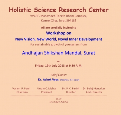 Workshop for Andhjan Shikshan Mandal Surat